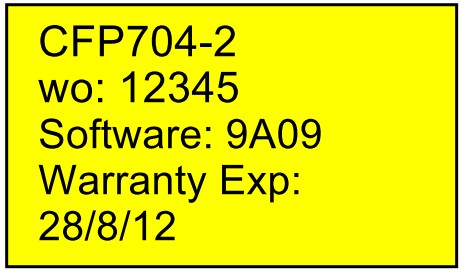 warranty label